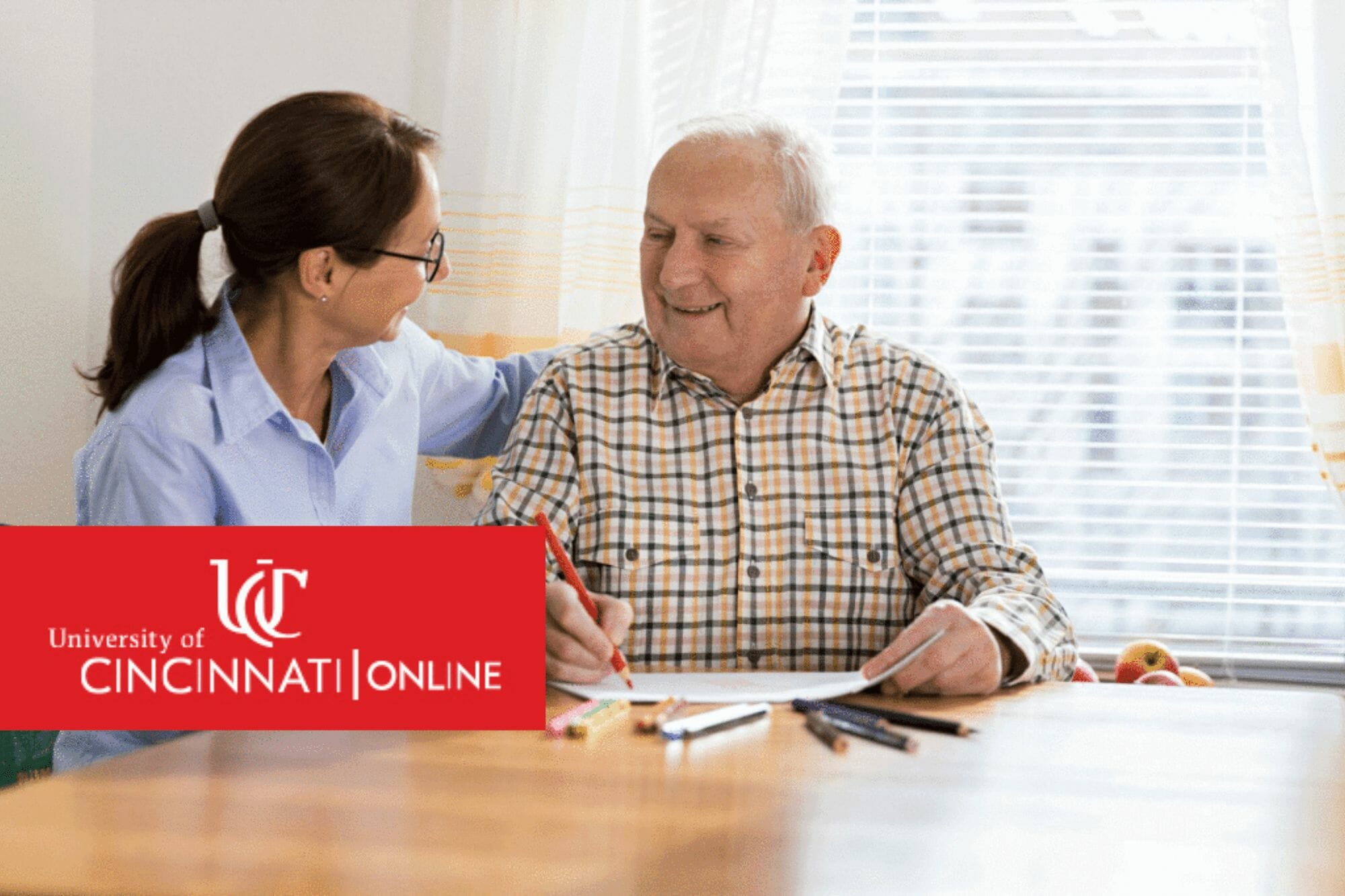 Occupational Therapist working with elderly man