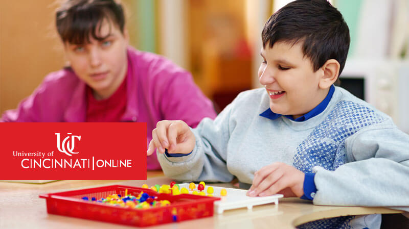 Child utilizing behavior analysis techniques