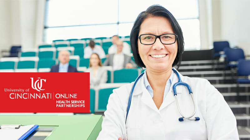 Smiling health care professional with arms crossed