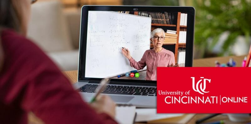 Women teaching online.