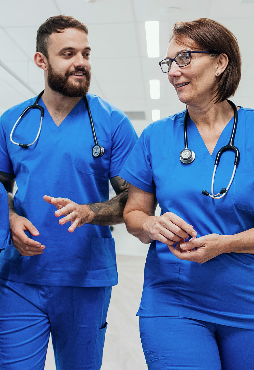 nurse practitioners walking